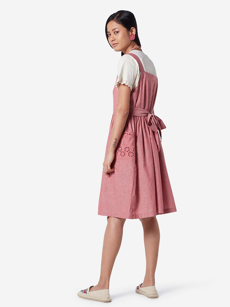 Bombay Paisley Dull Pink Fit-And-Flare Dress