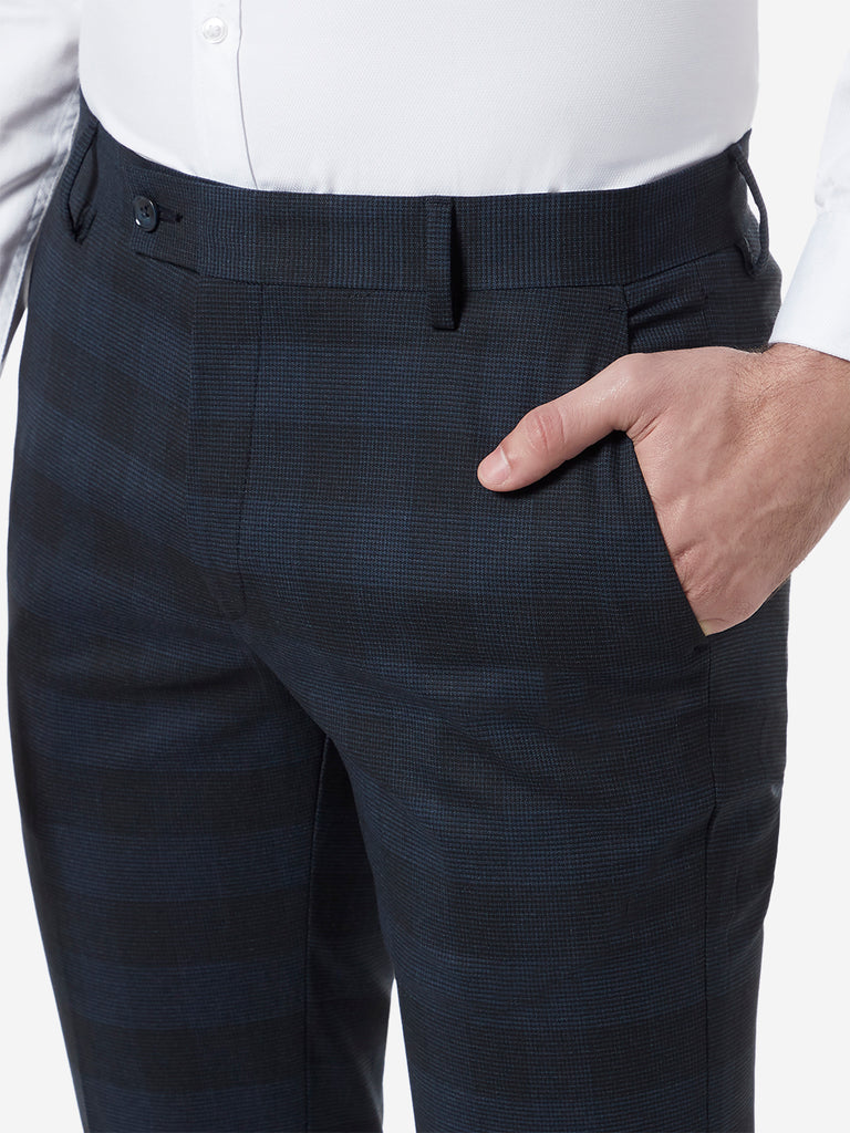 WES Formals Navy Ultra-Slim Fit Trousers