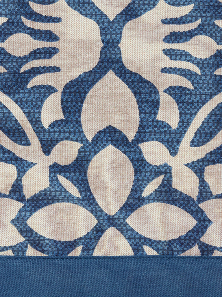 Westside Home Indigo 138TC Floral Print Table Cloth