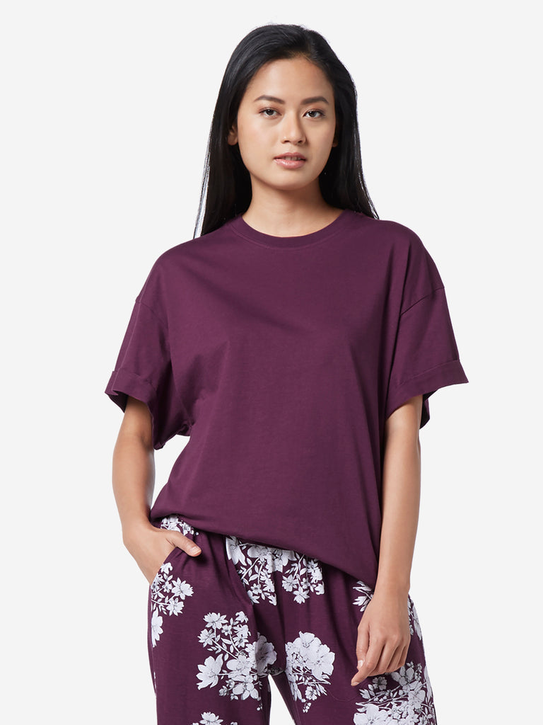 Wunderlove Berry Pure Cotton T-Shirt