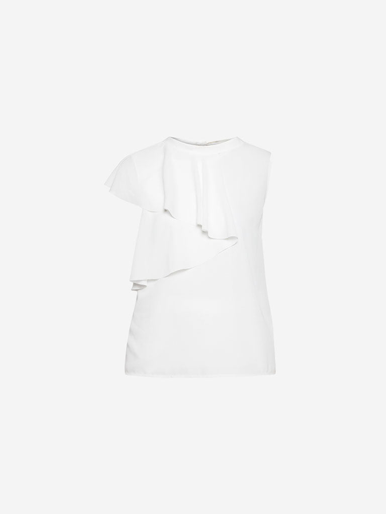 Wardrobe White Zing Top With Camisole