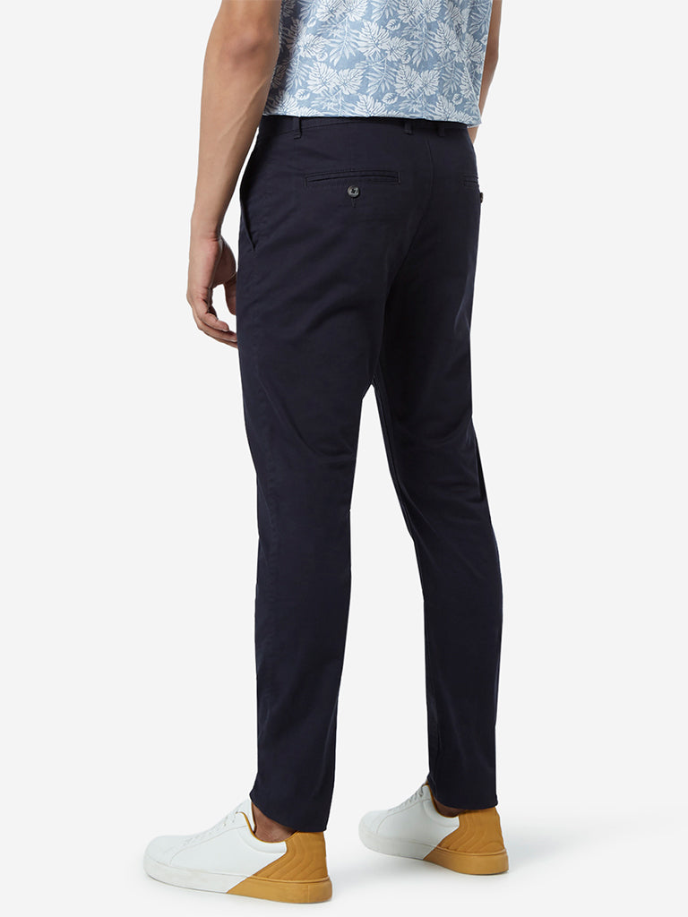 WES Casuals Navy Carrot Fit Chinos