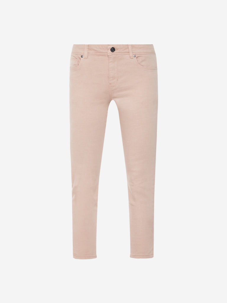 LOV Peach Cropped Joy Jeans