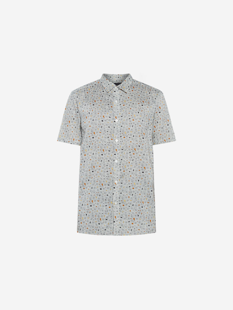 WES Casuals Multicolour Print Relaxed Fit Shirt