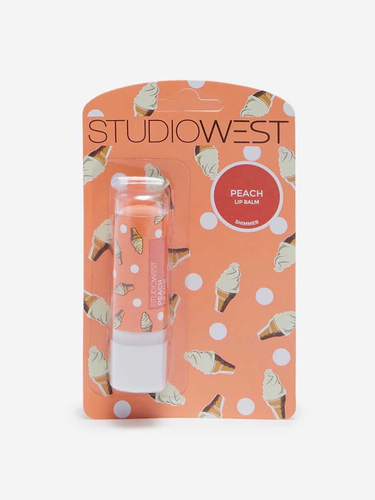 Studiowest Peach Tinted With Shimmer Lip Balm, 4.5 g