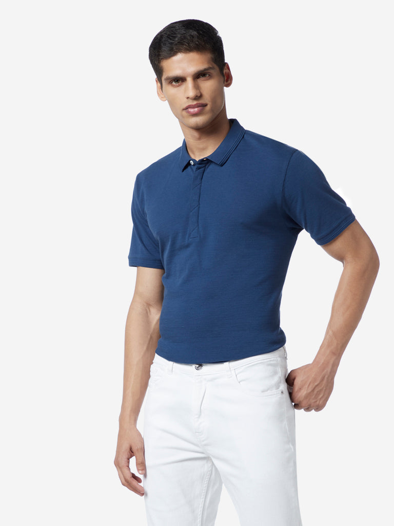 Ascot Indigo Slim Fit Polo T-Shirt