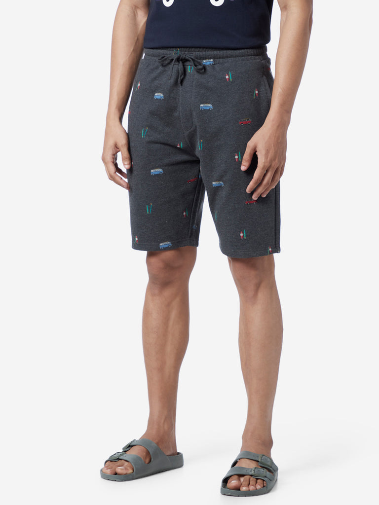 WES Lounge Anthra Relaxed Fit Bus Design Shorts