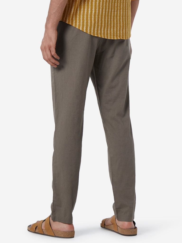 ETA Taupe Slim Fit Chinos