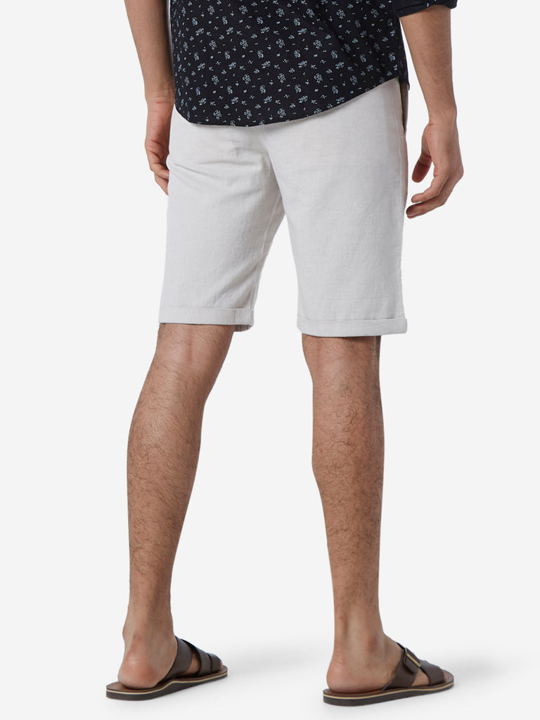ETA Off White Slim Fit Shorts