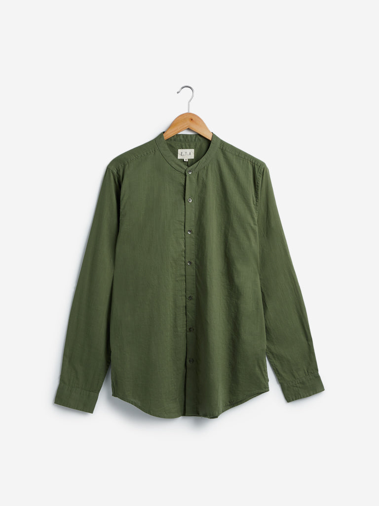ETA Olive Resort Fit Casual Shirt