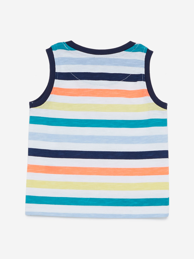 Baby HOP Multicolour Striped Hollie Tank T-Shirt