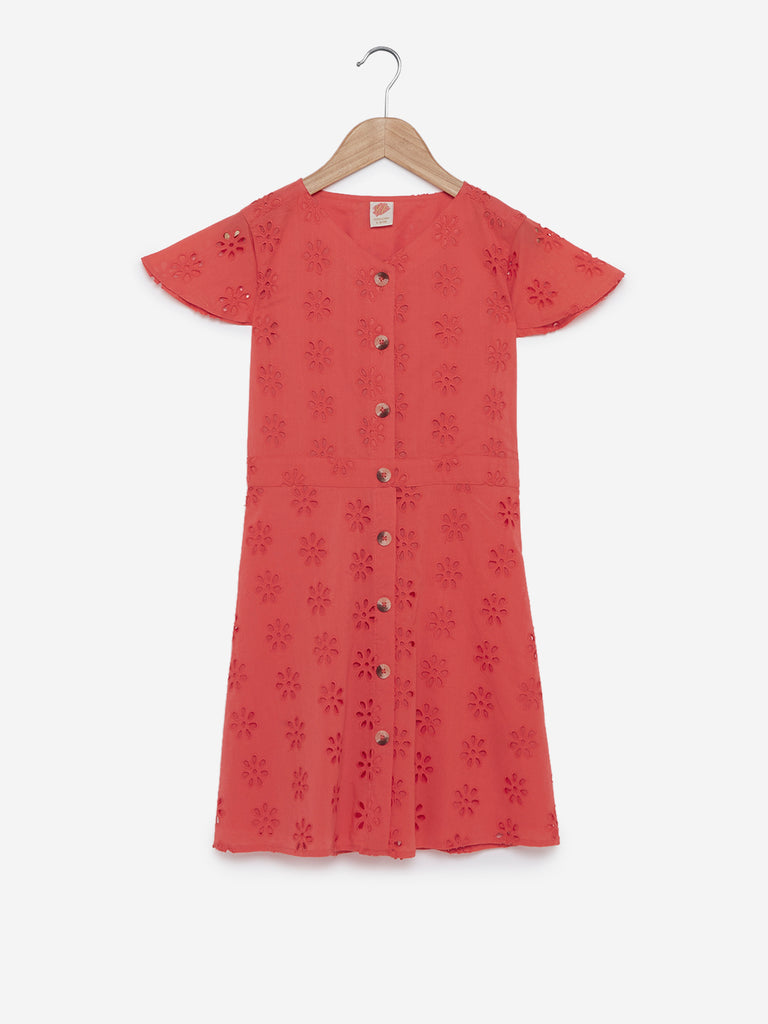 Y&F Kids Coral Cutout Pattern Lia Dress