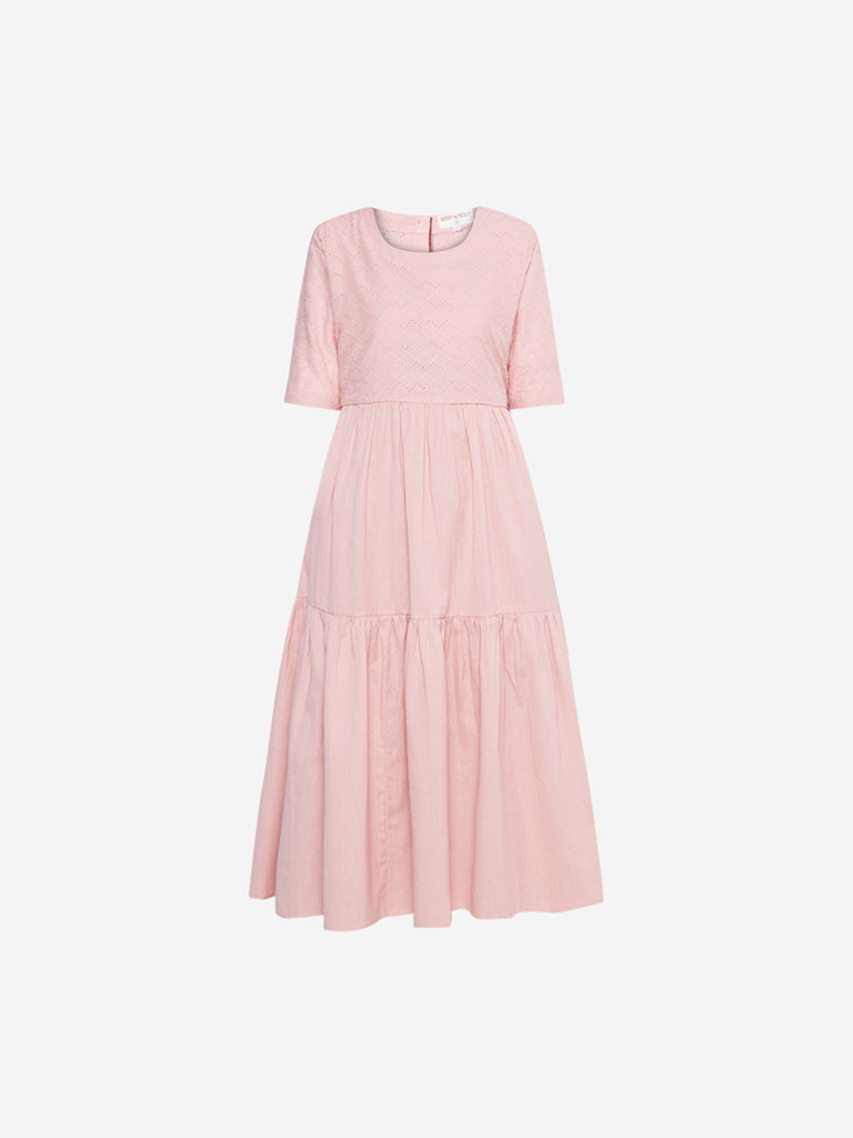 Bombay Paisley Pink Fit-And-Flare Dress