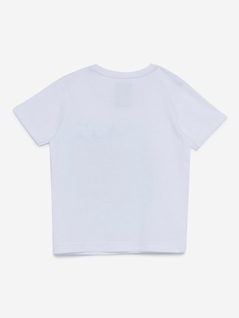 HOP Kids White Reversible Sequin T-Shirt