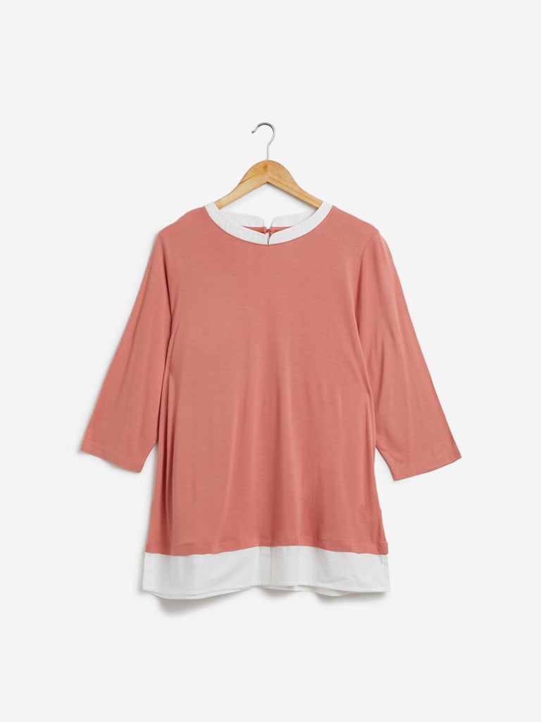 Gia Curves Peach Haze Top