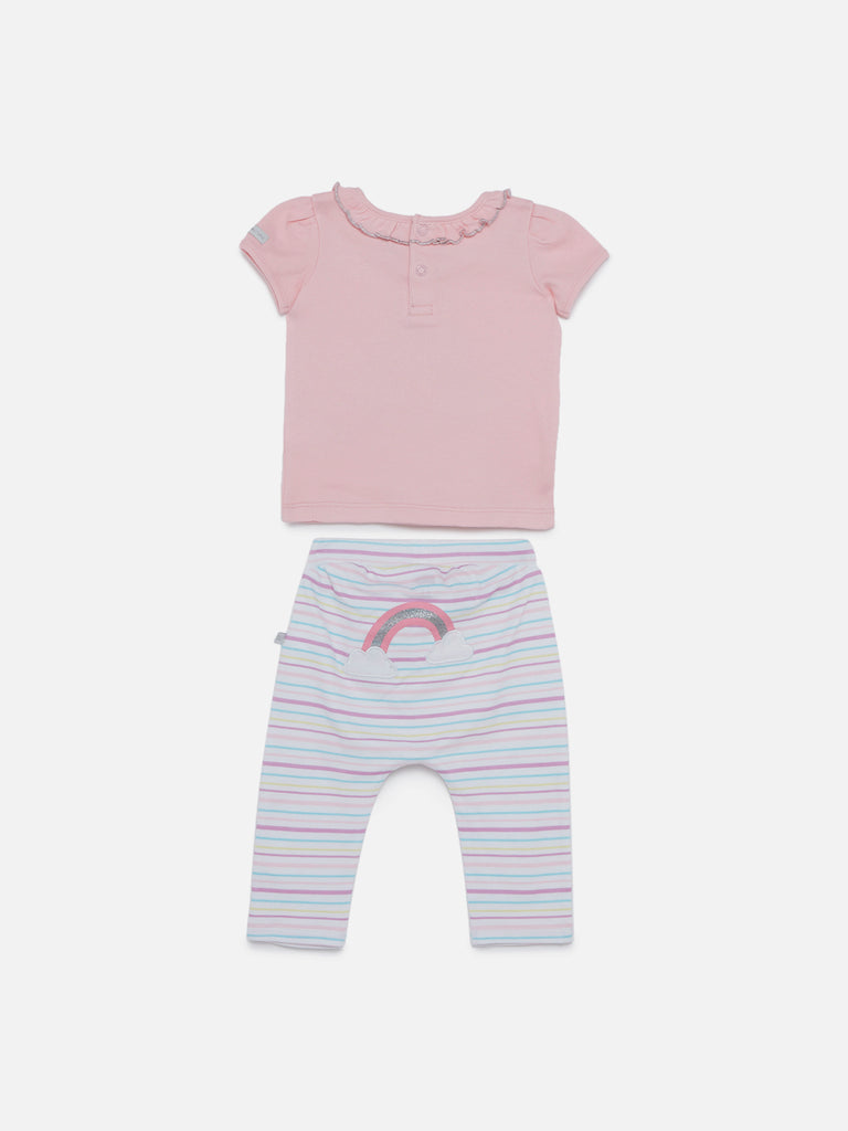 Baby HOP Multicolour Rainbow Top And Pants Set