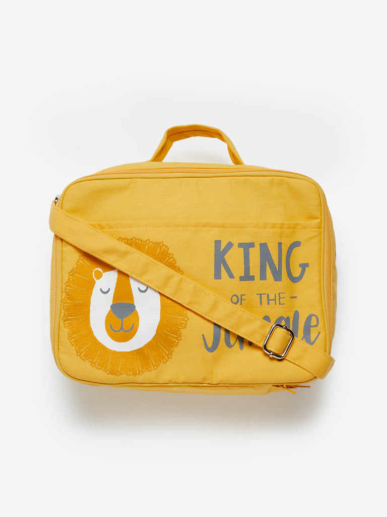 Baby HOP Yellow Lion Print Changing Bag