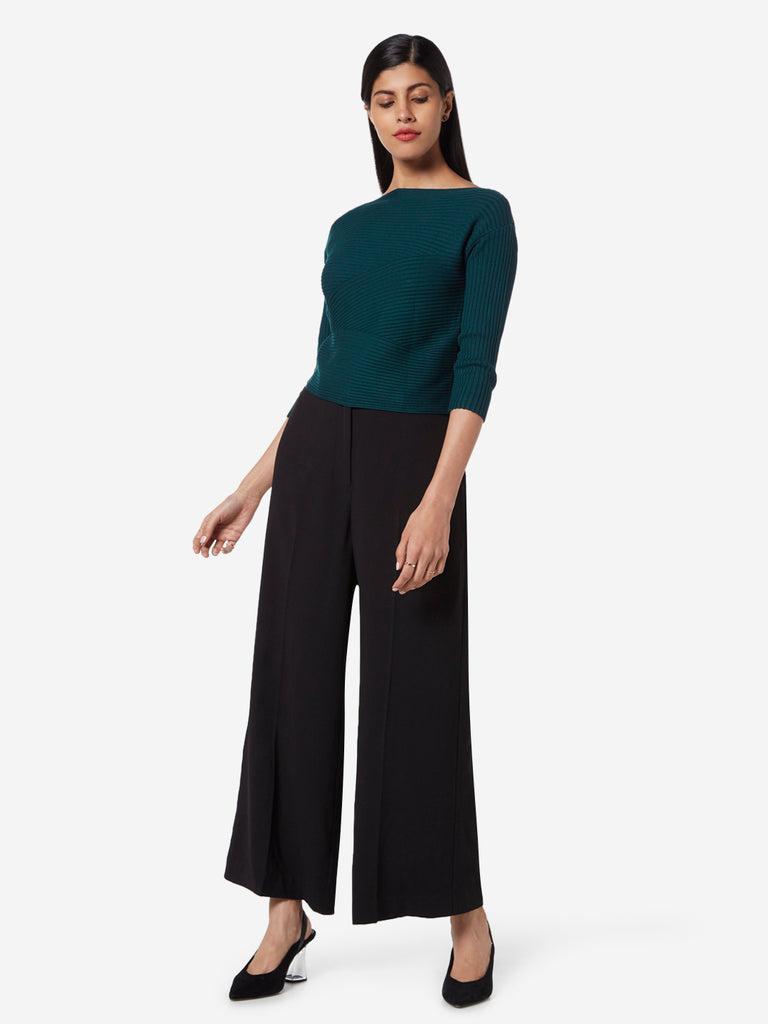 Wardrobe Teal Ribbed Stefanel Top
