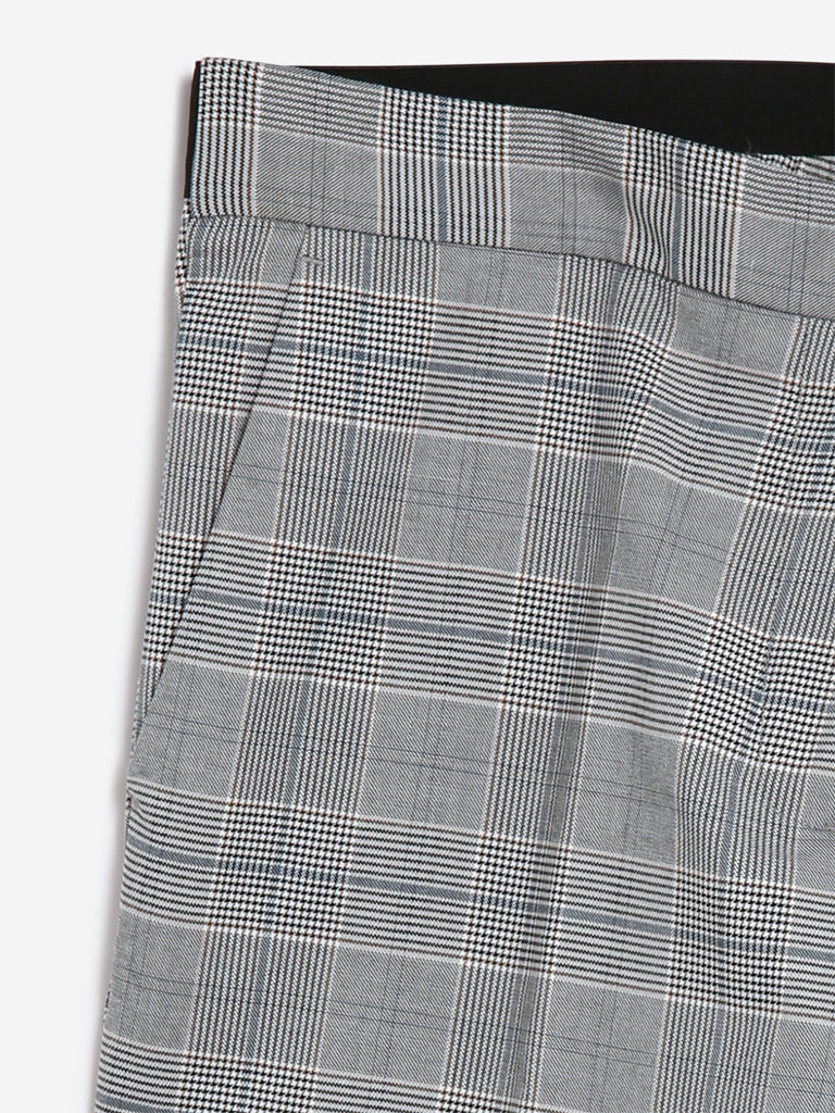 Wardrobe Grey Checked Megan Trousers