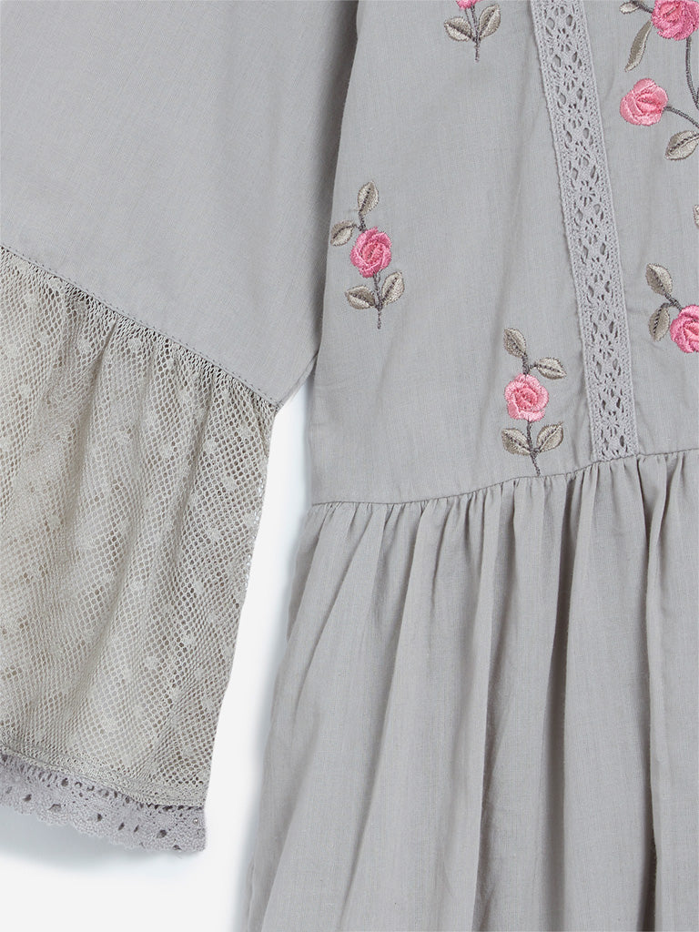 Bombay Paisley Grey Tiered Dress