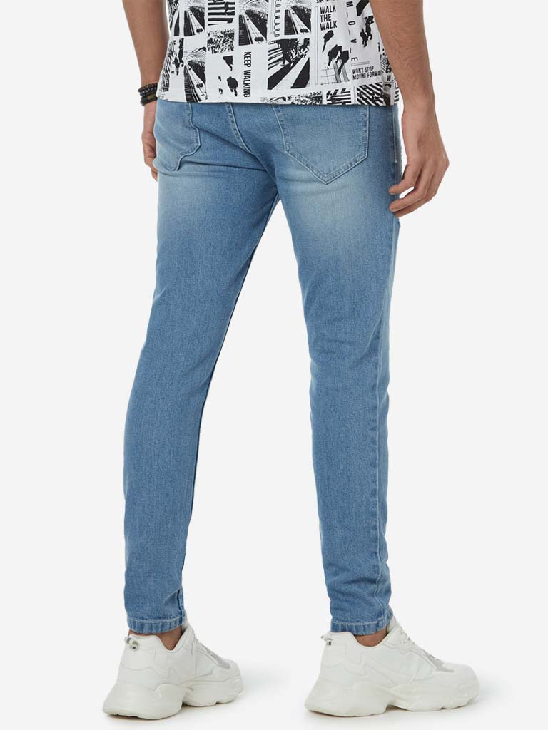 Nuon Light Blue Rodeo Carrot Fit Jeans