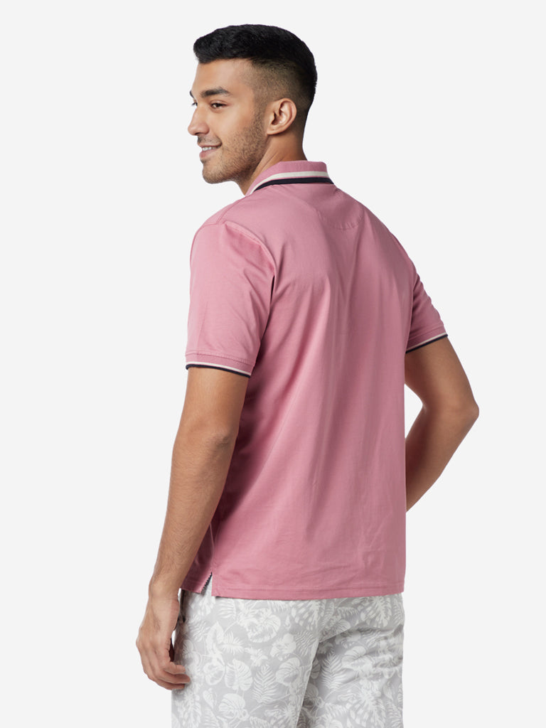 Ascot Pink Relaxed Fit Polo T-Shirt