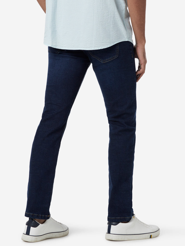 WES Casuals Indigo Relaxed Fit Jeans