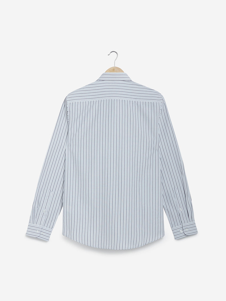 WES Formals Multicolour Striped Slim Fit Shirt