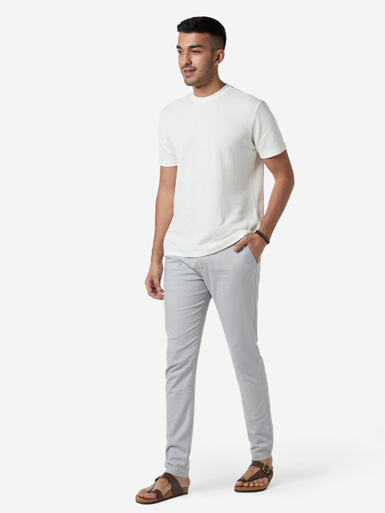 ETA White Slim Fit Crewneck T-Shirt