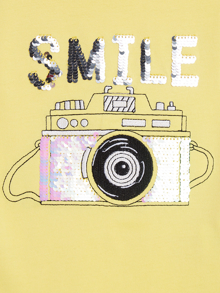 HOP Kids Yellow Camera Design Joe T-Shirt