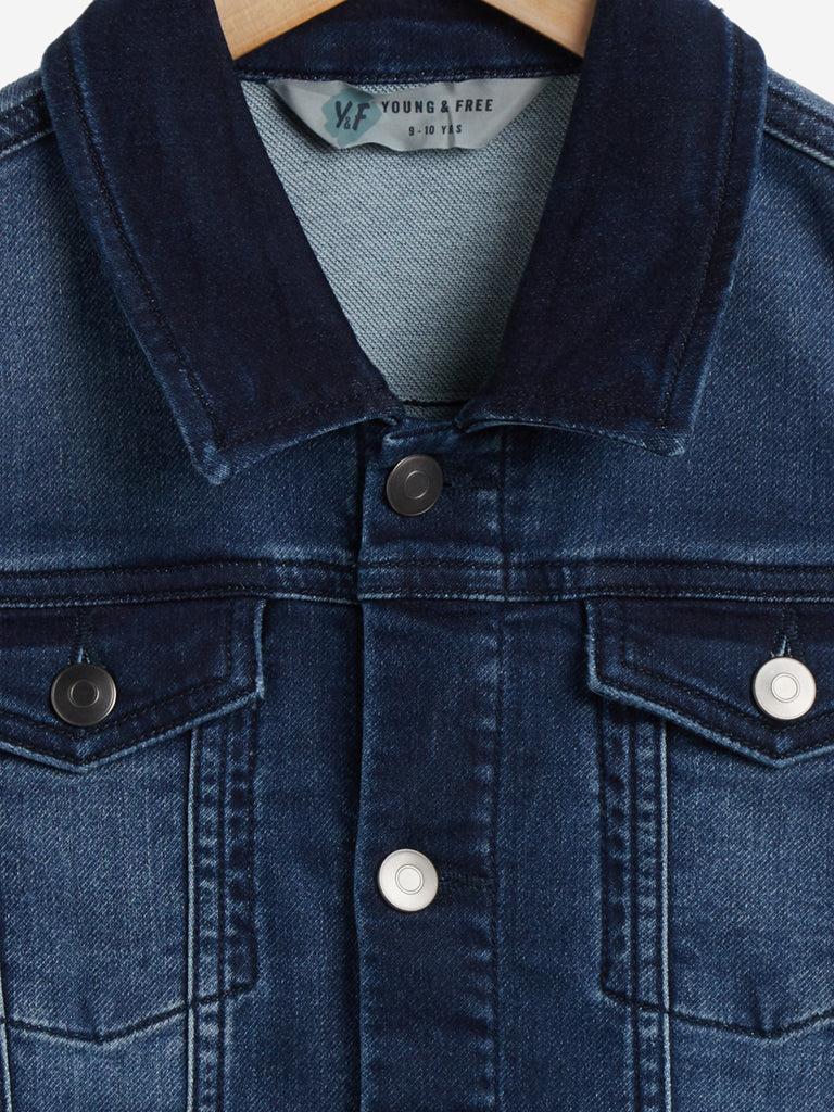Y&F Kids Dark-Blue Denim Jacket