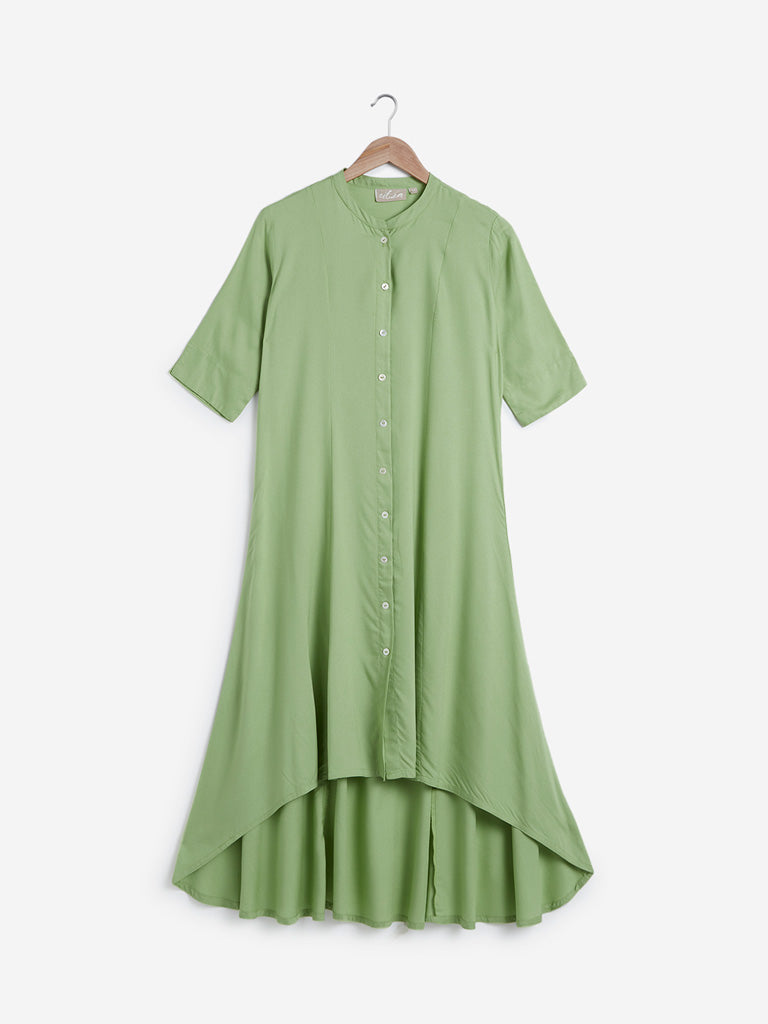 Utsa Soft Green High-Low Kurta