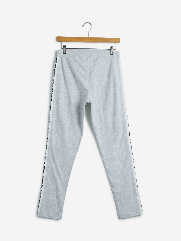 Studiofit Light-Grey Melange Leggings
