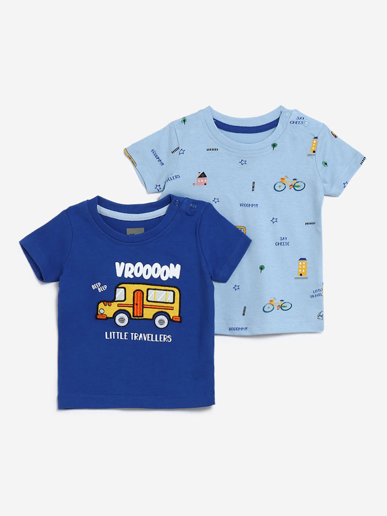 Baby HOP Blue Traveller Set of Two T-Shirts