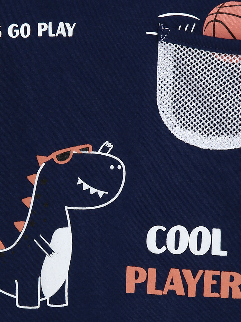 Baby HOP Navy Dinosaur Set of Two T-Shirts