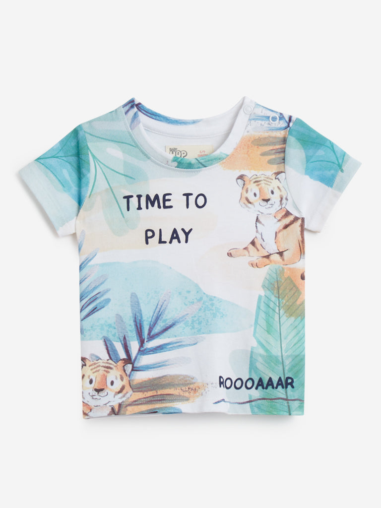 Baby HOP Multicolour Printed T-Shirt
