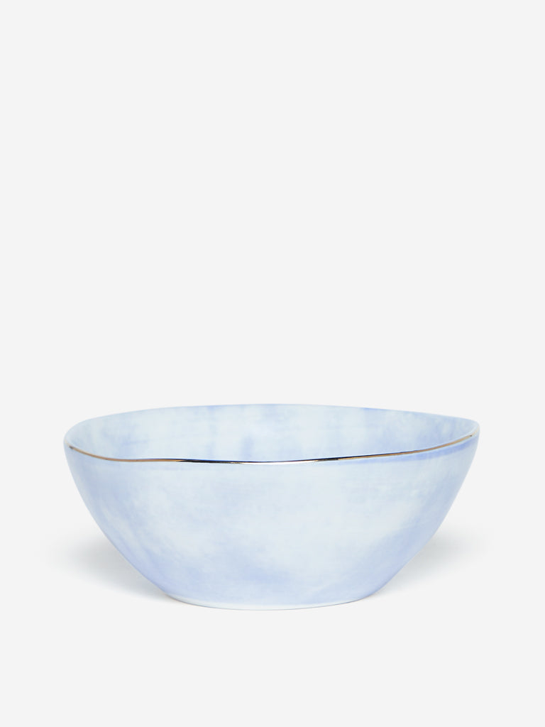 Westside Home Light Blue Porcelain Bowl