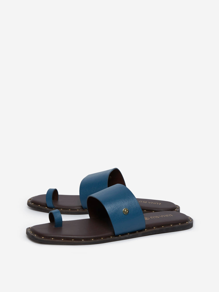 LUNA BLU Indigo Toe Ring Sandals