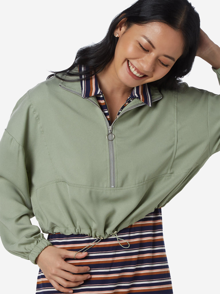 Nuon Light Green Anadale Cropped Jacket