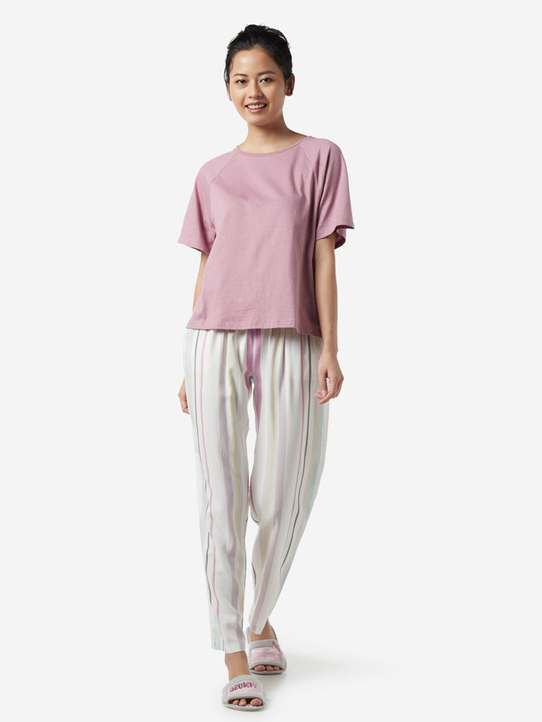 Wunderlove White Striped Pyjamas