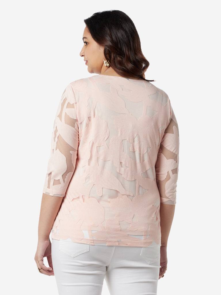 Gia Curves Light Pink Floral Fiona Top
