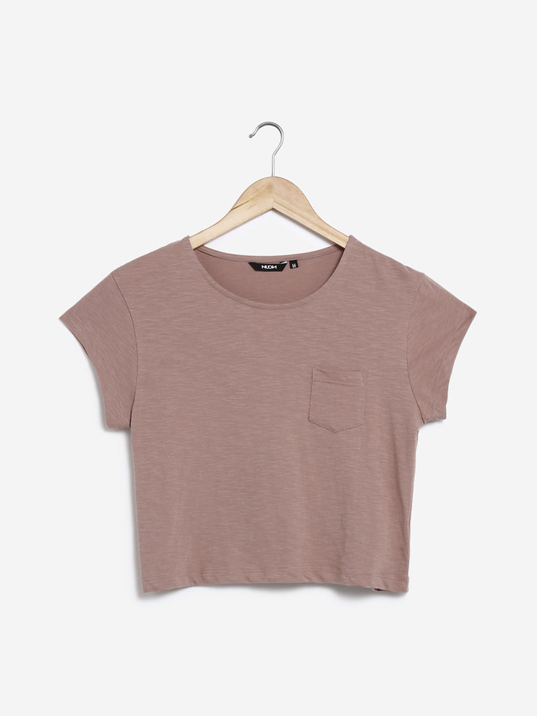 Nuon Light Brown Cropped Samuel T-Shirt
