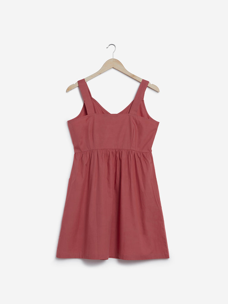 Nuon Dull Pink Pure Cotton Dress