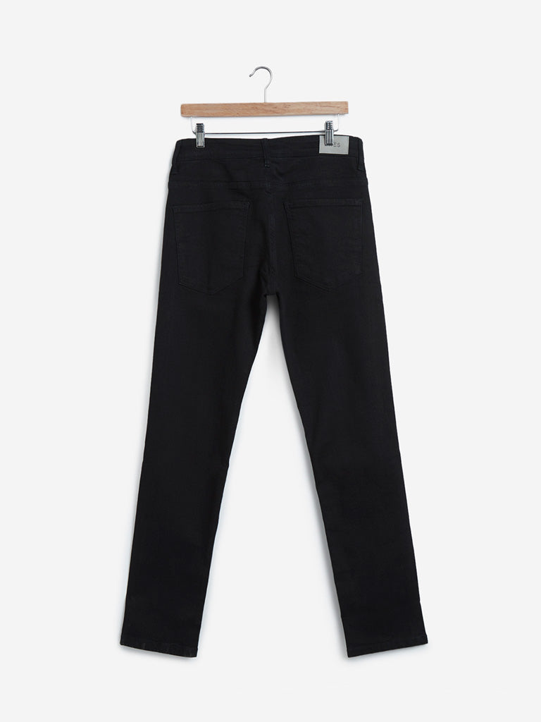 WES Casuals Black Relaxed Fit Jeans