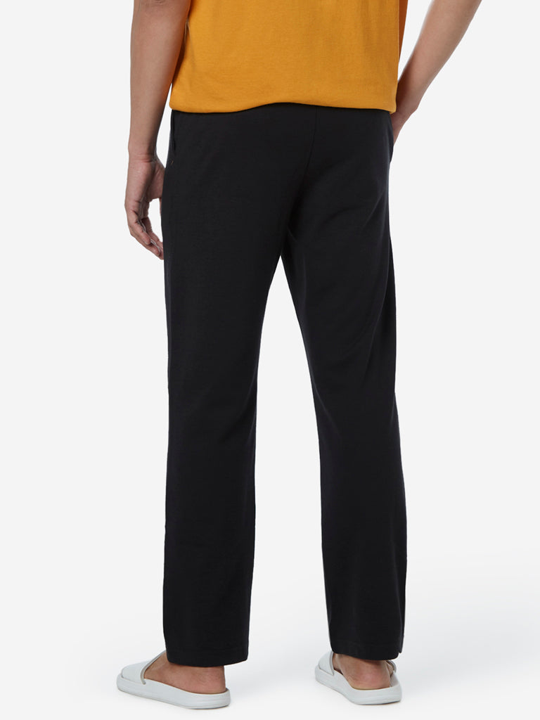 WES Lounge Black Relaxed Fit Trackpants