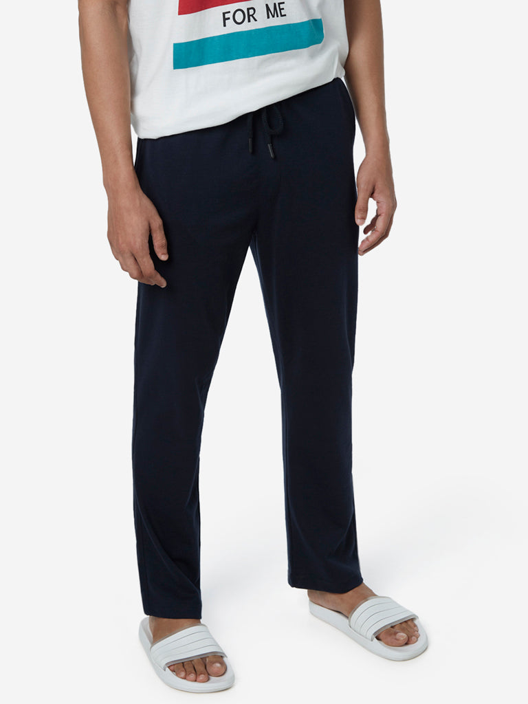 WES Lounge Navy Relaxed Fit Trackpants