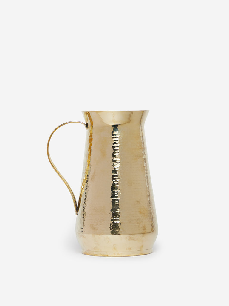 Westside Home Gold Textured Brass Water Jug