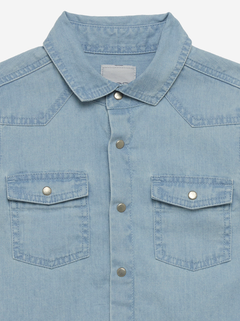 HOP Kids Light Blue Chambray Shirt