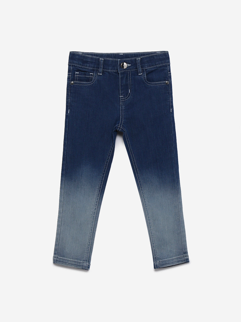 HOP Kids Blue Two-Toned Jeans