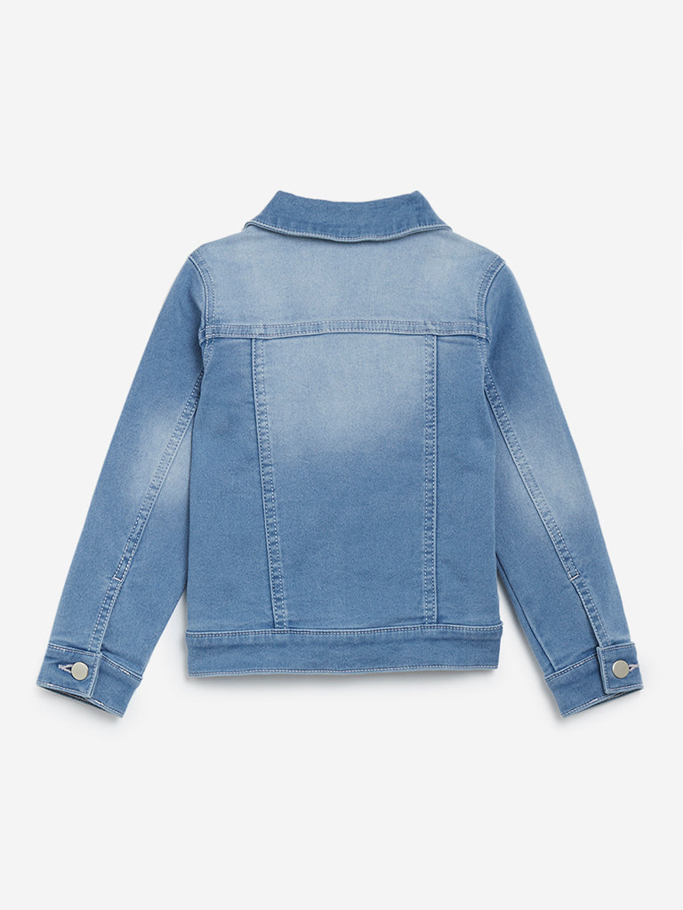 HOP Kids Light Blue Faded Denim Jacket